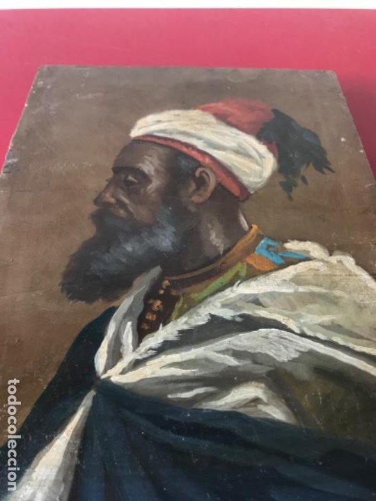 Arte: RETRATO ORIENTALISTA- OLEO SOBRE MADERA. JOSEP TAPIRÓ? FINALES S.XIX. - Foto 8 - 190800152