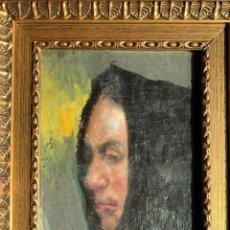 Arte: RETRATO FEMENINO FIRMADO Y FECHADO 1908. Lote 190824932