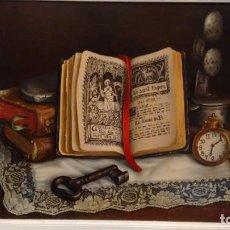 Arte: CUADRO ÓLEO LIENZO BODEGÓN LIBROS CARLOS PRADAL. Lote 190827092