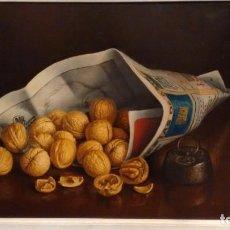 Arte: CUADRO ÓLEO LIENZO BODEGÓN NUECES CARLOS PRADAL. Lote 190834275