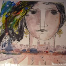 Arte: ROSTRO FEMENINO DE AMADEU SATORRA I CARULLA (1948). Lote 190862480