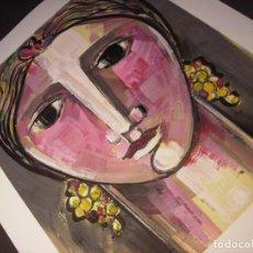 Arte: ROSTRO FEMENINO DE AMADEU SATORRA I CARULLA (1948) 120 1160-(1162)-1164 (45 X 37 CM.AMADE. Lote 190863390