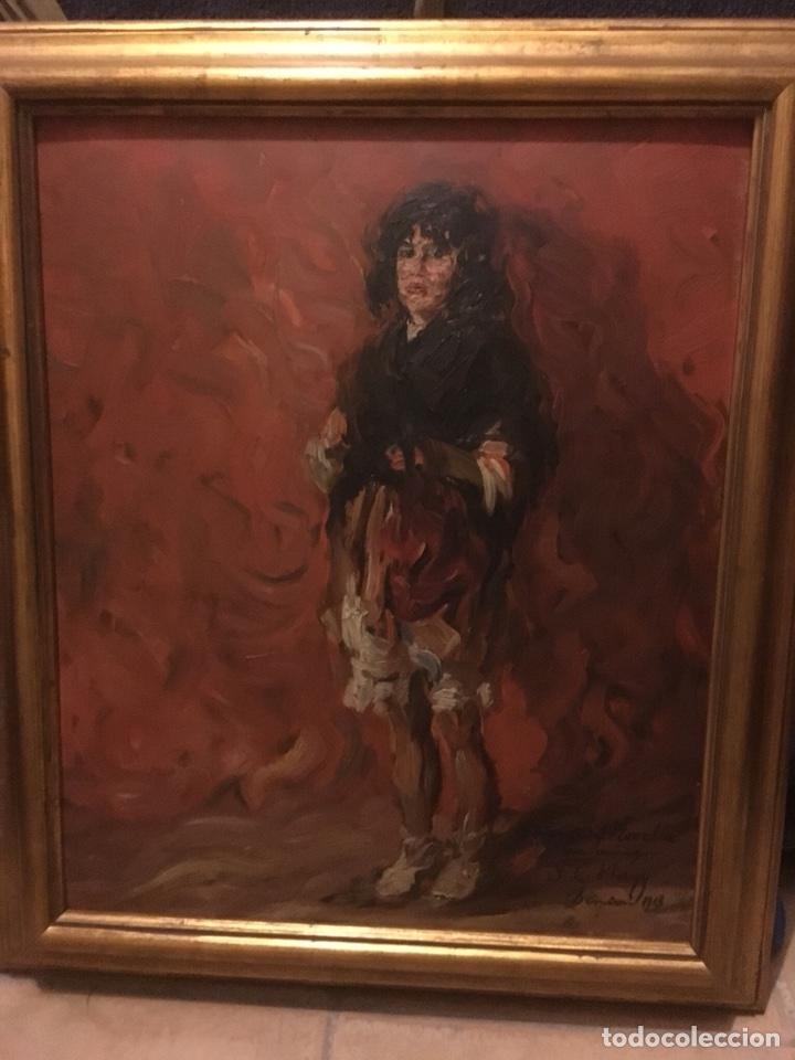 ÓLEO DE SEGISMUNDO DE NAGY FIRMADO Y DEDICADO AL PINTOR VICENTE GÓMEZ NOVELLA (DENIA 1918) (Arte - Pintura - Pintura al Óleo Contemporánea )