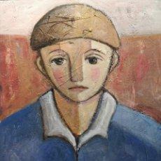 Arte: CAINO. (BAIONA 1948).NENO OBREIRO. ÓLEO SOBRE LIENZO.. Lote 190905012