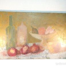 Arte: BELLO OLEO SOBRE LIENZO. BODEGÓN DE FRUTAS EN TONOS PASTEL. AUTOR DESCONOCIDO. SIGLO XX.. Lote 190908861