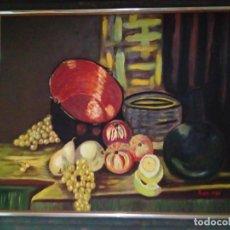Arte: BONITO CUADRO PINTURA SOBRE LIENZO BODEGON. Lote 190930062