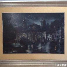 Arte: IGLESIA DE SAN NICOLÁS DE BILBAO,ÓLEO SOBRE LIENZO FIRMADO CALBERT(GRIFELL 1ª ÉPOCA) . Lote 190932871