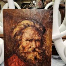 Arte: RETRATO ANCIANO SOBRE TABLA QUIZÁS REMBRANDT. Lote 190981178