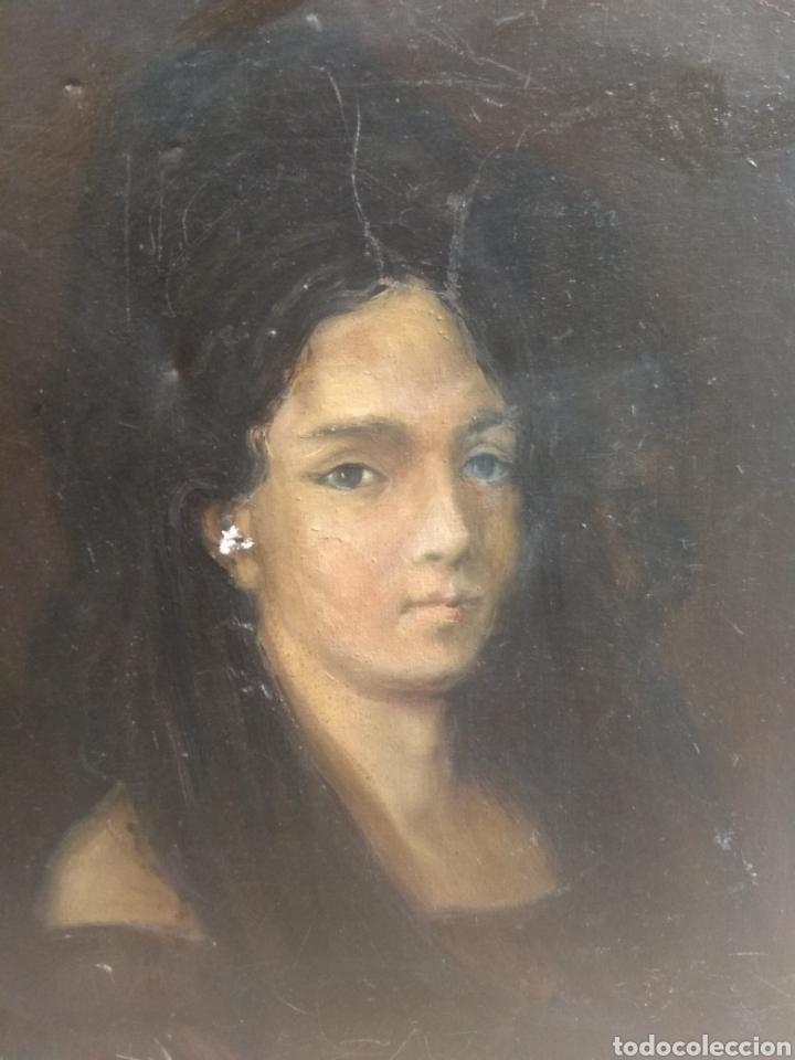 Arte: Oleo Sobre Lienzo Retrato de Dama XIX - Foto 4 - 190991148