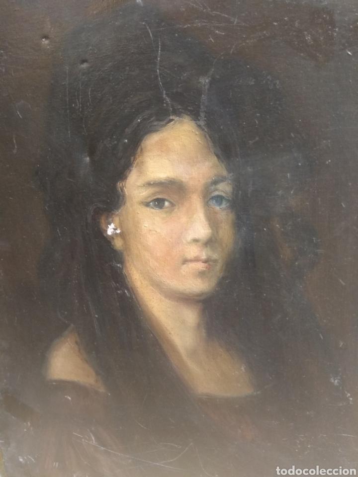 Arte: Oleo Sobre Lienzo Retrato de Dama XIX - Foto 5 - 190991148