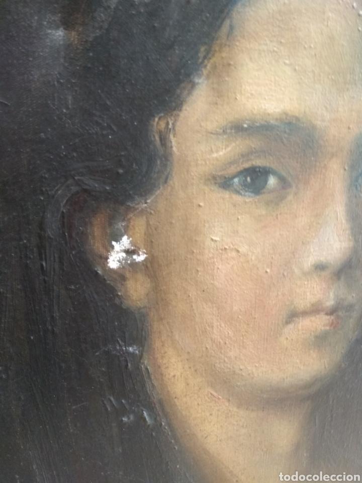 Arte: Oleo Sobre Lienzo Retrato de Dama XIX - Foto 7 - 190991148