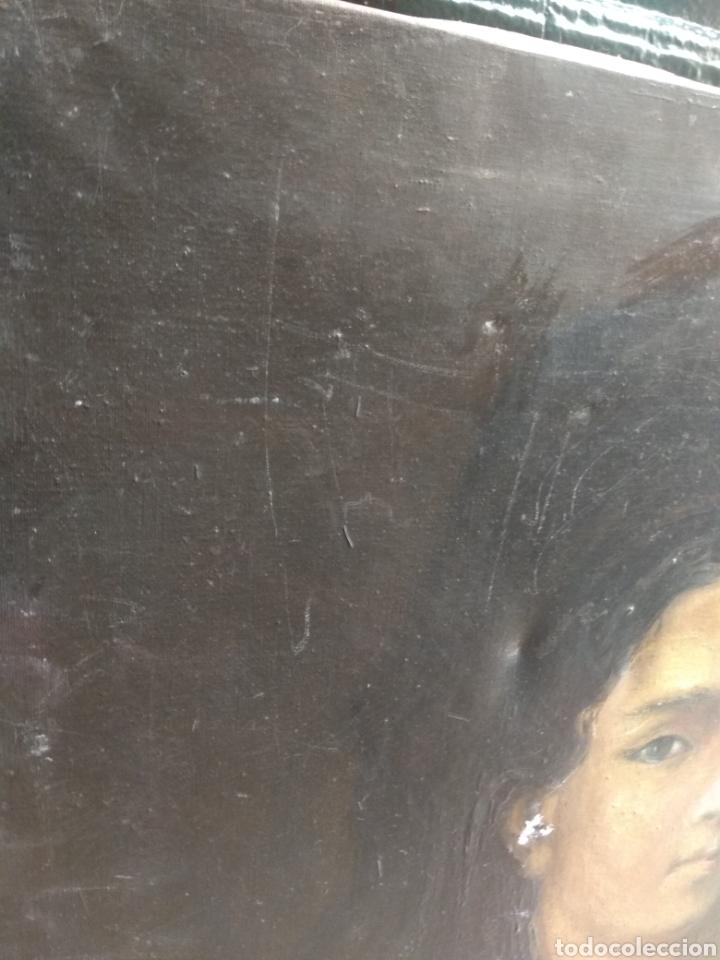 Arte: Oleo Sobre Lienzo Retrato de Dama XIX - Foto 11 - 190991148