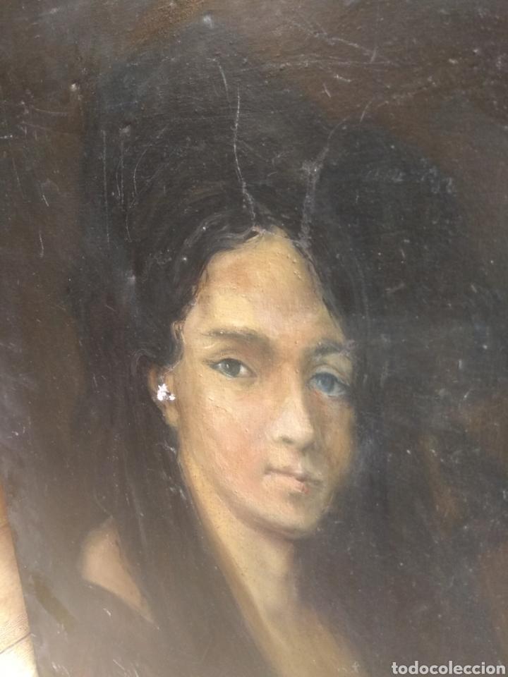 Arte: Oleo Sobre Lienzo Retrato de Dama XIX - Foto 13 - 190991148