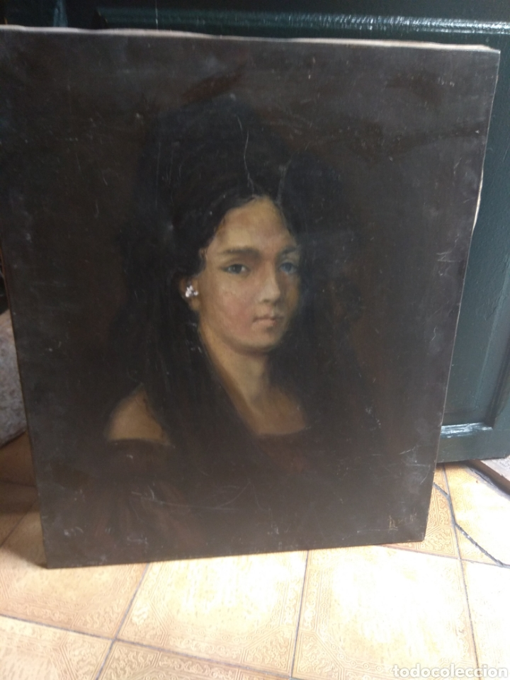 Arte: Oleo Sobre Lienzo Retrato de Dama XIX - Foto 20 - 190991148