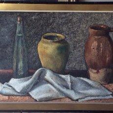 Arte: LAPUERTA JESÚS ( ZARAGOZA )BODEGÓN FIRMADO ,100X42 CM . Lote 191009153