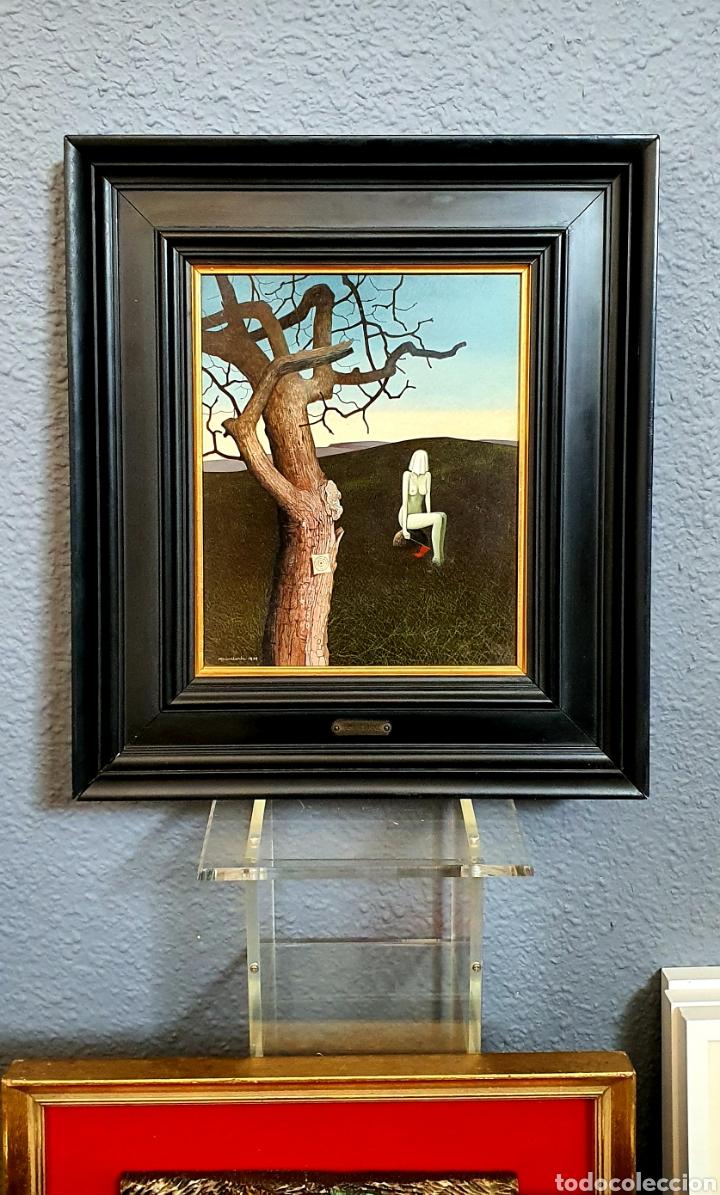 Arte: Don Clarke, Pequeña, preciosa y magnifica pintura original firmada. - Foto 2 - 183337487