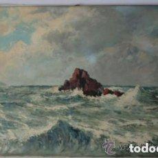 Arte: ESTEBAN GRUNWALD- ÓLEO SOBRE LIENZO . MARINA . MEDIDAS 100X70CMS IDEAL COLECCIONISTAS . Lote 191072226