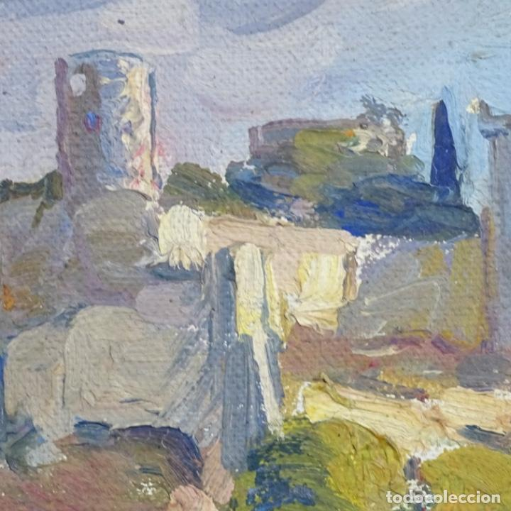 Arte: Óleo sobre tela.escuela de Mallorca.buen trazo. - Foto 8 - 191119657