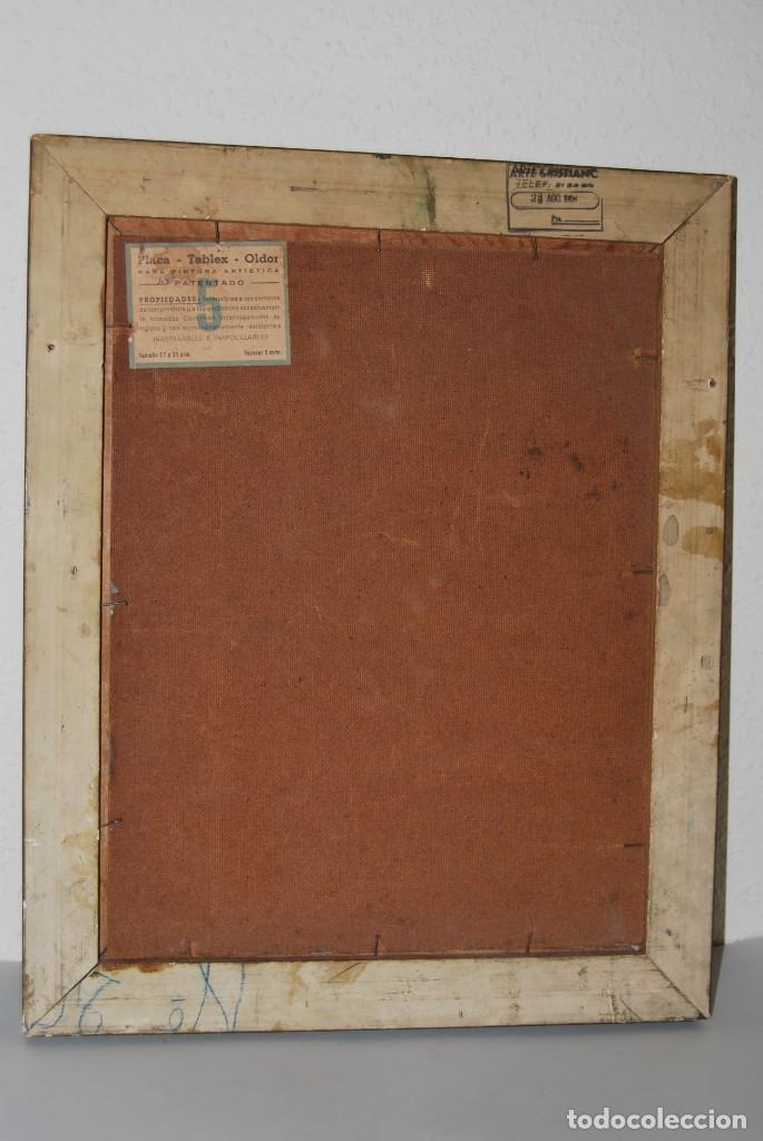 Arte: ÓLEO SOBRE TABLA - FIRMADO TIELVE - PERRO PASTOR - RETRATO - AÑOS 60 - Foto 10 - 191134033