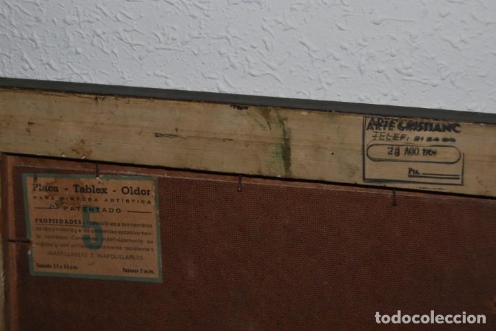 Arte: ÓLEO SOBRE TABLA - FIRMADO TIELVE - PERRO PASTOR - RETRATO - AÑOS 60 - Foto 11 - 191134033