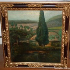 Arte: ESCUELA ESPAÑOLA DE AUTOR ANONIMO. OLEO SOBRE TELA DE APROXIMADAMENTE 1900. PAISAJE. Lote 191139305