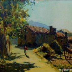 Arte: GRANJA DE MONTAÑA. ÓLEO SOBRE LIENZO. FIRMADO ALIER. ESPAÑA. XIX-XX. Lote 191165773