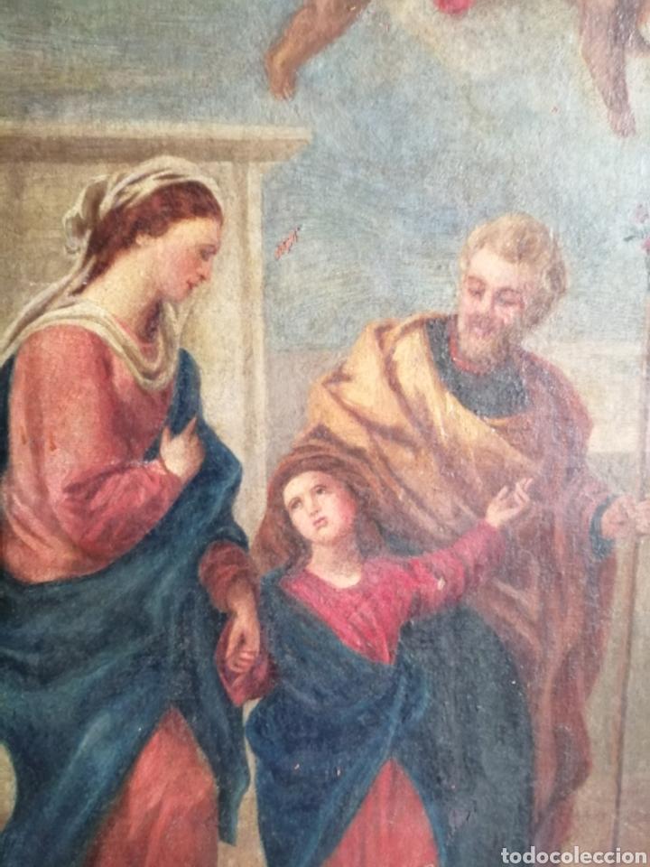Arte: Óleo sobre lienzo napolitano siglo XVIII. - Foto 3 - 191251962