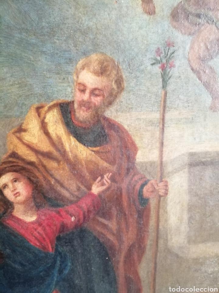 Arte: Óleo sobre lienzo napolitano siglo XVIII. - Foto 4 - 191251962