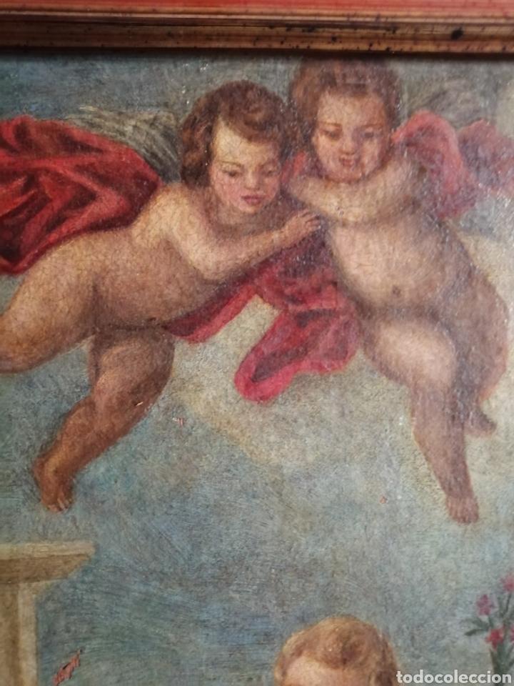 Arte: Óleo sobre lienzo napolitano siglo XVIII. - Foto 5 - 191251962