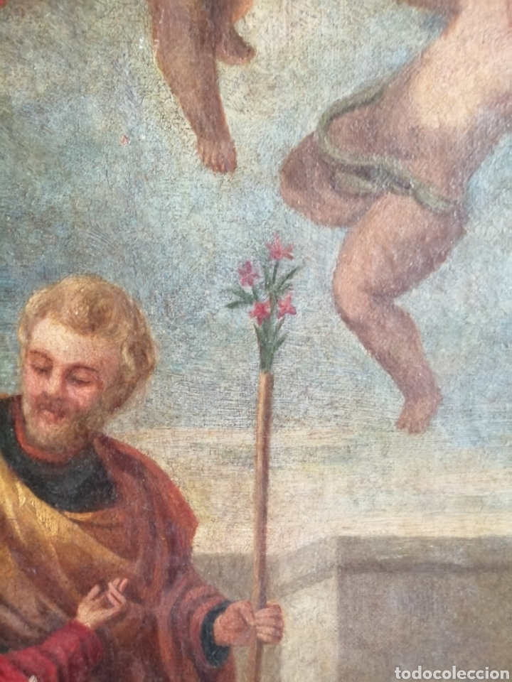 Arte: Óleo sobre lienzo napolitano siglo XVIII. - Foto 13 - 191251962