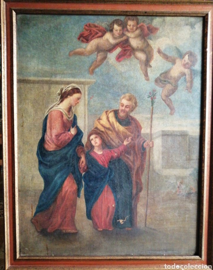 ÓLEO SOBRE LIENZO NAPOLITANO SIGLO XVIII. (Arte - Pintura - Pintura al Óleo Antigua siglo XVIII)