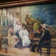 Arte: ANTIGUO OLEO SOBRE LIENZO FIRMADO Y FECHADO 1920. Lote 191326748