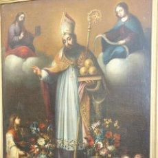 Arte: MARQUEZ DE VELASCO, ESTEBAN ( PUEBLA DE GUZMAN 1652- SEVILLA 1696): SAN NICOLÁS DE BARI. Lote 191368828