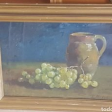 Arte: BODEGÓN OLEO SOBRE TABLA DE ENRIC MODOLELL MARQUÉS. Lote 191379796