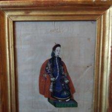 Arte: MAGNIFICA PINTURA CHINA SOBRE PAPEL DE ARROZ. FINALES SIGLO XVIII.. Lote 191397706
