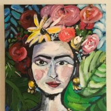 Arte: FRIDA KALO. RETRATO. PORTRAIT. MEXICO. ÓLEO SOBRE LIENZO. MUJER.. Lote 191397893