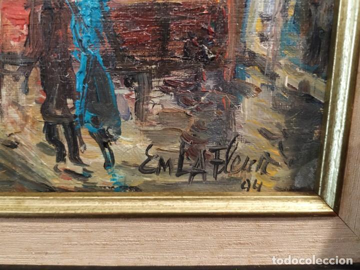 Arte: OLEO PARIS ARCO DEL TRIUNFO FIRMA EM LA FLEUR 94. - Foto 3 - 191402768
