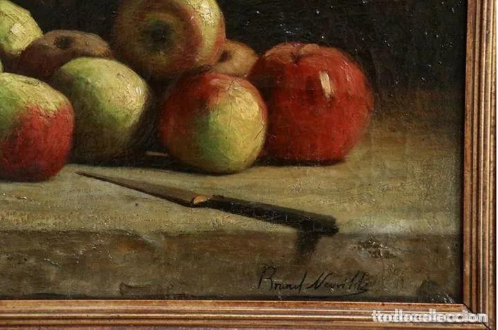 Arte: Alfred Arthur Brunel de Neuville (1852-1941) Manzanas - Foto 3 - 191414267