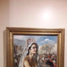 Arte: LIENZO OLEO MANOLA BALCÓN TOROS ORIGINAL DE FRANCISCO RODRÍGUEZ SÁNCHEZ CLEMENT ELCHE. Lote 191446551