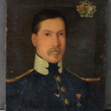 Arte: RETRATO MILITAR, SIGLO XIX, PINTURA AL ÓLEO SOBRE TELA, SIN MARCO. 53X44CM. Lote 191453912