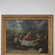 Arte: AMAGRAMISTA A.W. ABRAHAM WILLEMSENS (AMBERES 1610-1672) ÓLEO SOBRE COBRE - SANTA CENA. Lote 191456058