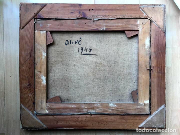 Arte: JACINTO OLIVÉ FONT (BCN 1896-1967) Marina firmada y fechada en 1946 Dimensiones obra 46.5x38.5cm - Foto 6 - 191457915