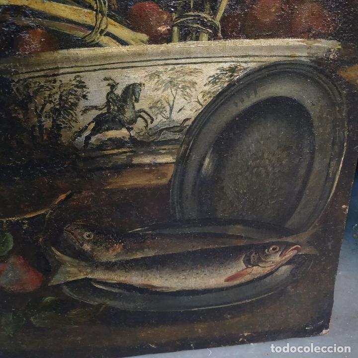 Arte: GRAN BODEGÓN CON FLORES Y PÁJAROS. ÓLEO SOBRE LIENZO. ESCUELA ROMANA. ITALIA. XVII - Foto 4 - 191465488