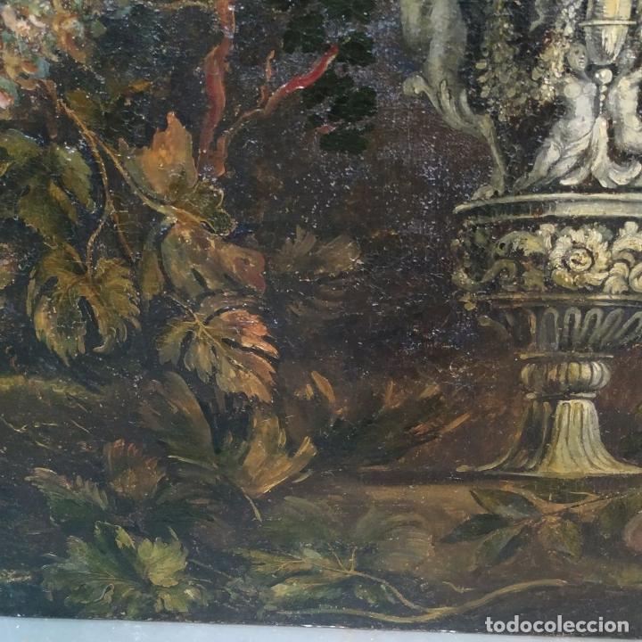 Arte: GRAN BODEGÓN CON FLORES Y PÁJAROS. ÓLEO SOBRE LIENZO. ESCUELA ROMANA. ITALIA. XVII - Foto 16 - 191465488