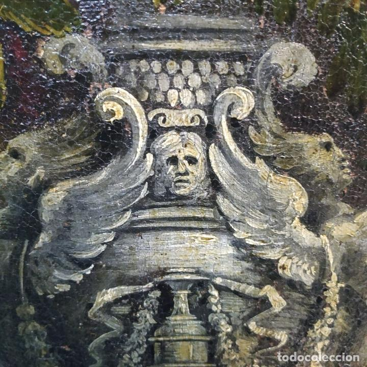 Arte: GRAN BODEGÓN CON FLORES Y PÁJAROS. ÓLEO SOBRE LIENZO. ESCUELA ROMANA. ITALIA. XVII - Foto 21 - 191465488