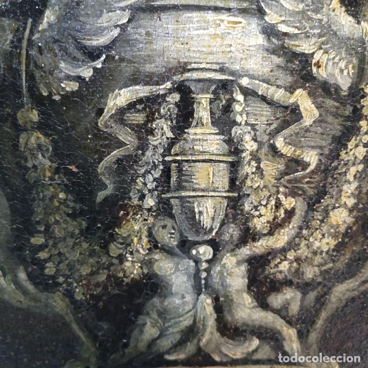 Arte: GRAN BODEGÓN CON FLORES Y PÁJAROS. ÓLEO SOBRE LIENZO. ESCUELA ROMANA. ITALIA. XVII - Foto 22 - 191465488
