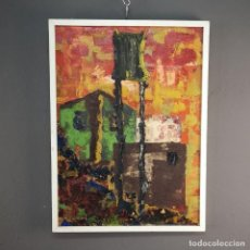 Arte: OLEO SOBRE TABLA TECNICA EXPRESIONISTA TITULADO TRANSFORMADOR ALFONSO GIL 1961. Lote 191467913