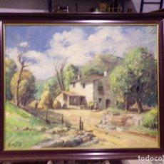 Arte: GRAN OLEO FIRMADO B. CAPELO CASA DE CAMPO O MASIA. Lote 191492763