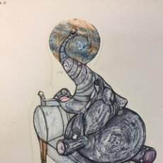 Arte: CIRO ODUBER (PANAMÁ 1921-BARCELONA 2002), OBRA ORIGINAL CATALOGADA.. Lote 191506991