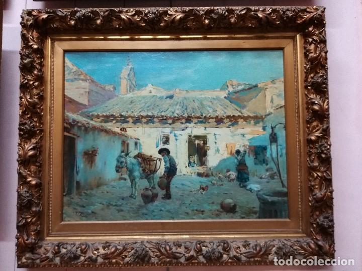CUADRO PINTADO AL OLEO SOBRE LIENZO POR GIGNOUX , LUDOVICO (Arte - Pintura - Pintura al Óleo Moderna siglo XIX)